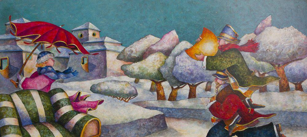 Anche-d'Inverno-ti-porto-la-Luna---130x60cm-Acrilico-su-tavola-mdf