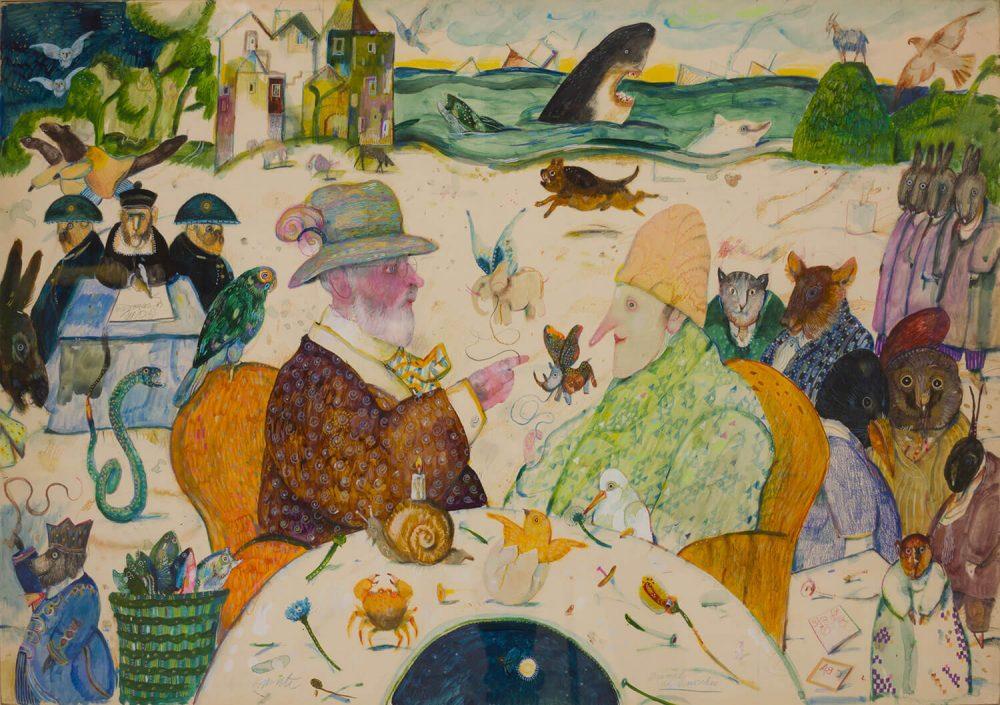 Animali-di-Pinocchio---70x100cm---Olio-su-Carta