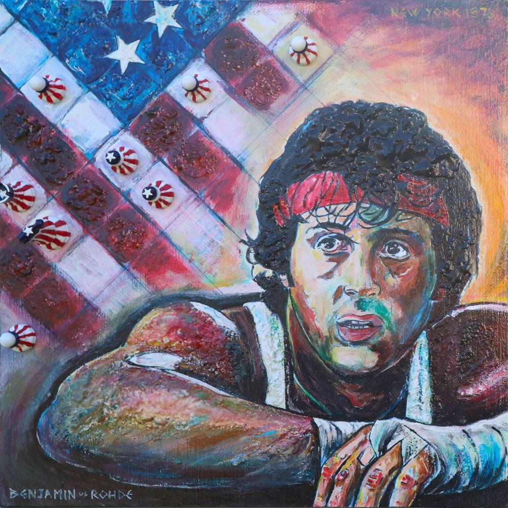 BENJAMIN---ROHDE,-New-York-1976-30x30cm-2018---Scacchi-e-tecn-mista-su-tavola