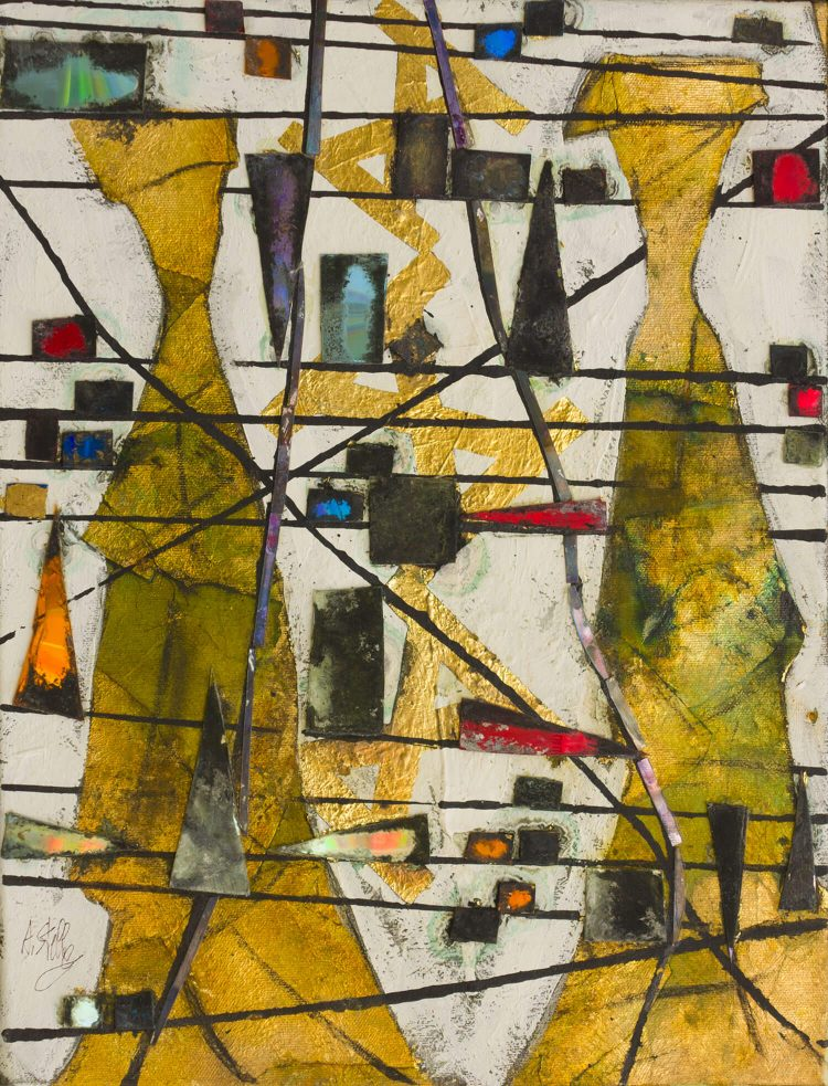 Canto-gregoriano---35x45cm---Olio-su-tela