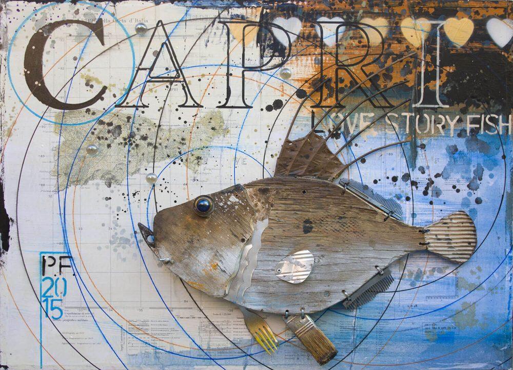 Capri-love-story---69x51cm---2015---Tecn-mista-con-materiali-di-riciclo