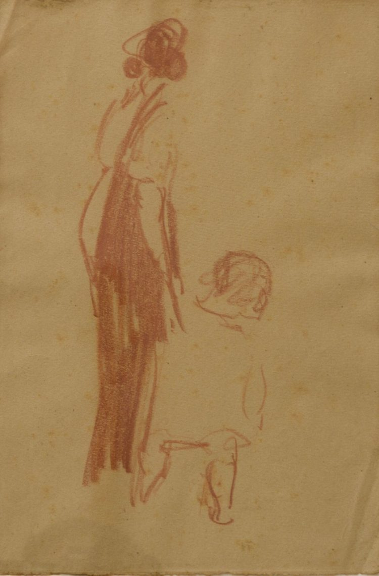 Donna---24x37cm---Sanguigna-su-carta---19251930