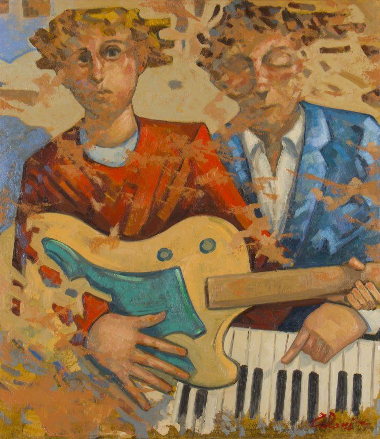 Due-musicisti---70x60cm---Olio-su-tela---2011