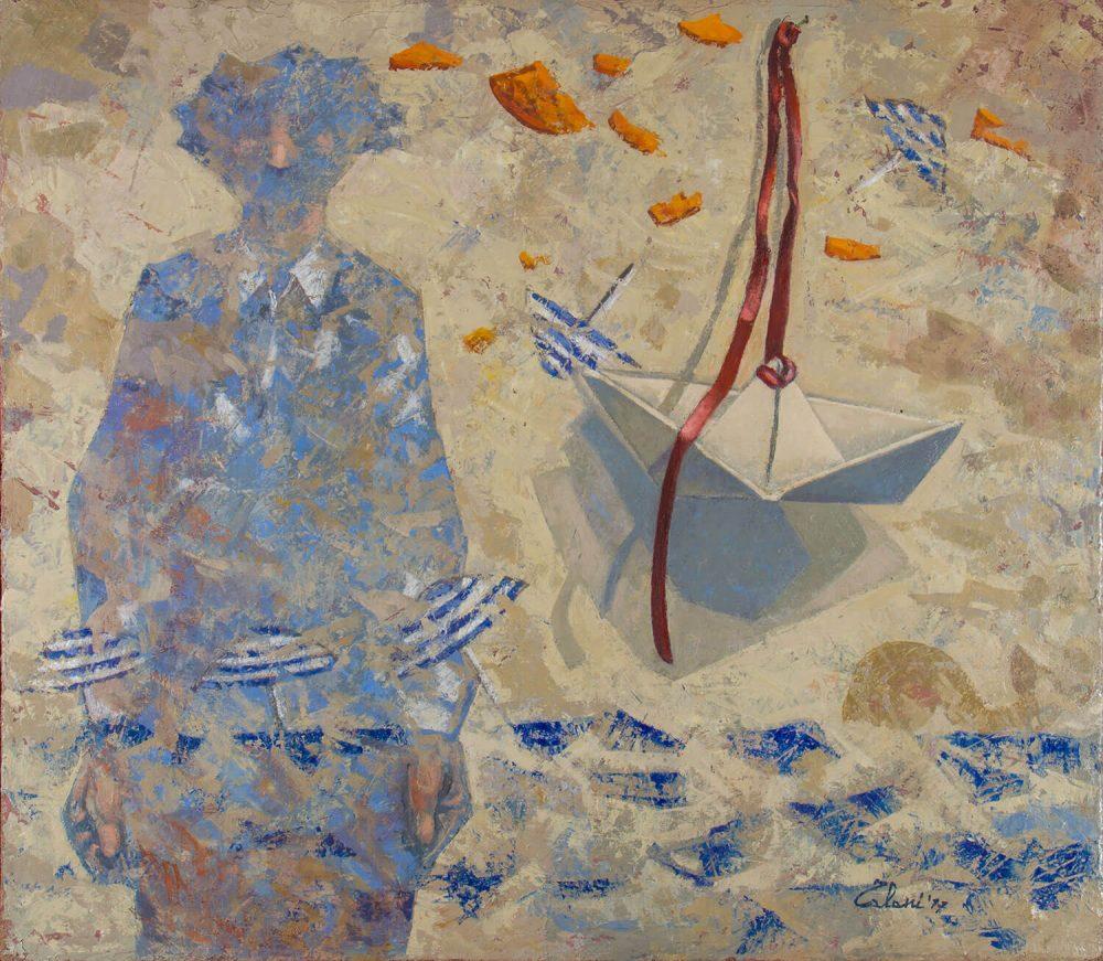 Fine-di-un'Estate---80x90cm---Olio-su-tela---2011