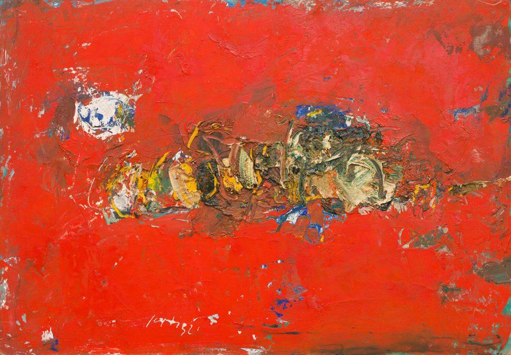 Grande-natura-morta-in-rosso---72x102cm---Olio-su-cartone