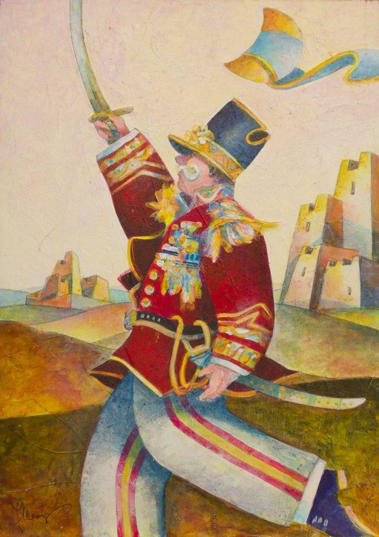 Il-generale-sulla-collina---25û35cm---Acrilico-su-tavola-mdf