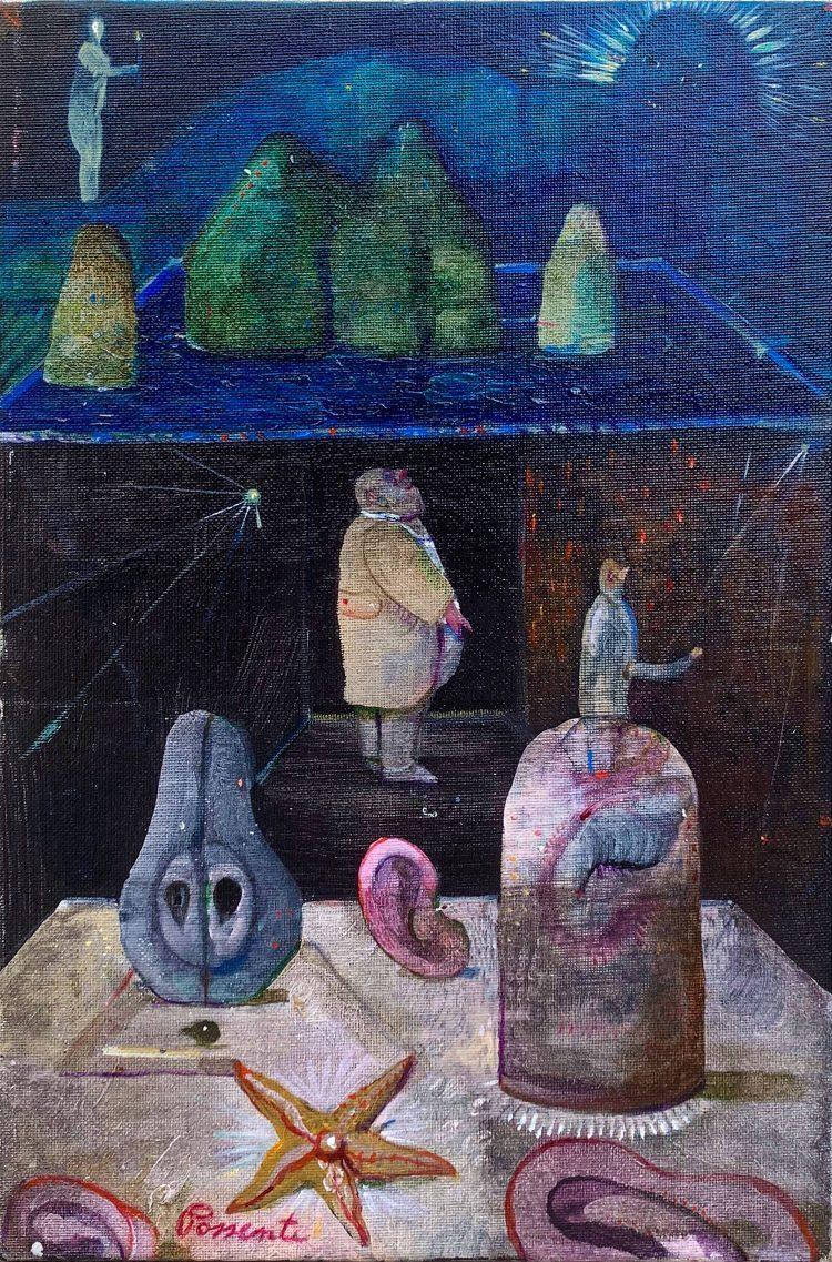 Isola-di-Gustave-Moreau---30x20cm---Olio-su-cartone-telato-1995