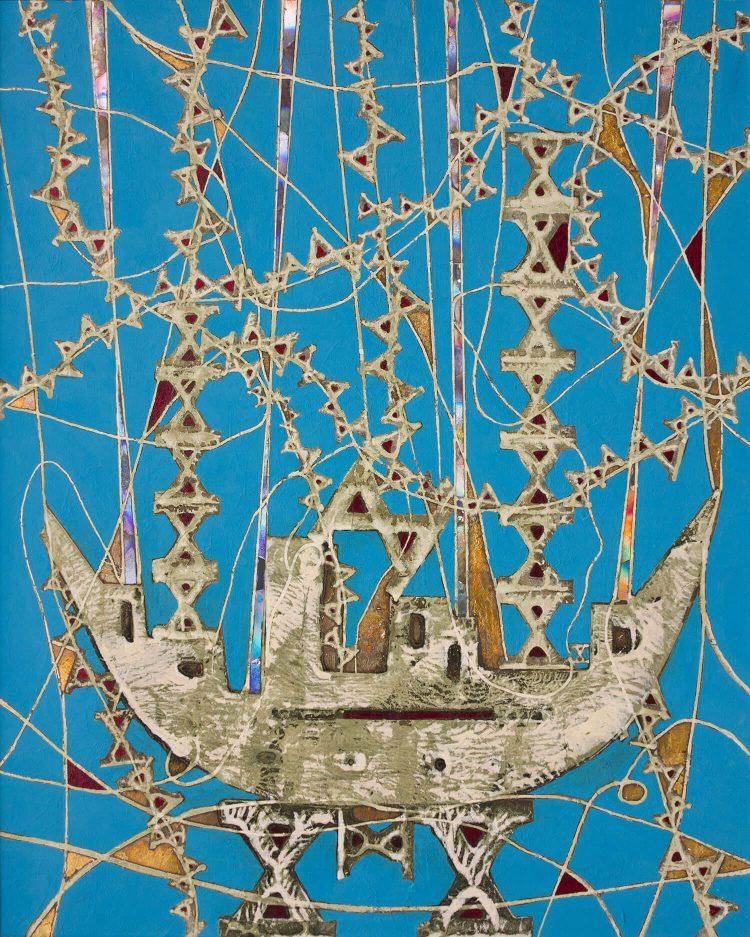 L'arca-dei-decimi---100x120cm---Tecn-mista-su-tela