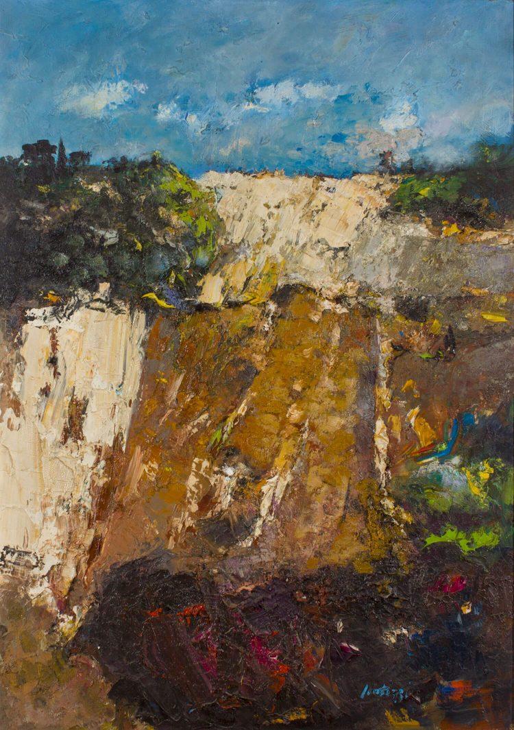 Le-balze-a-Volterra---127x91cm---1986---Olio-su-tavola