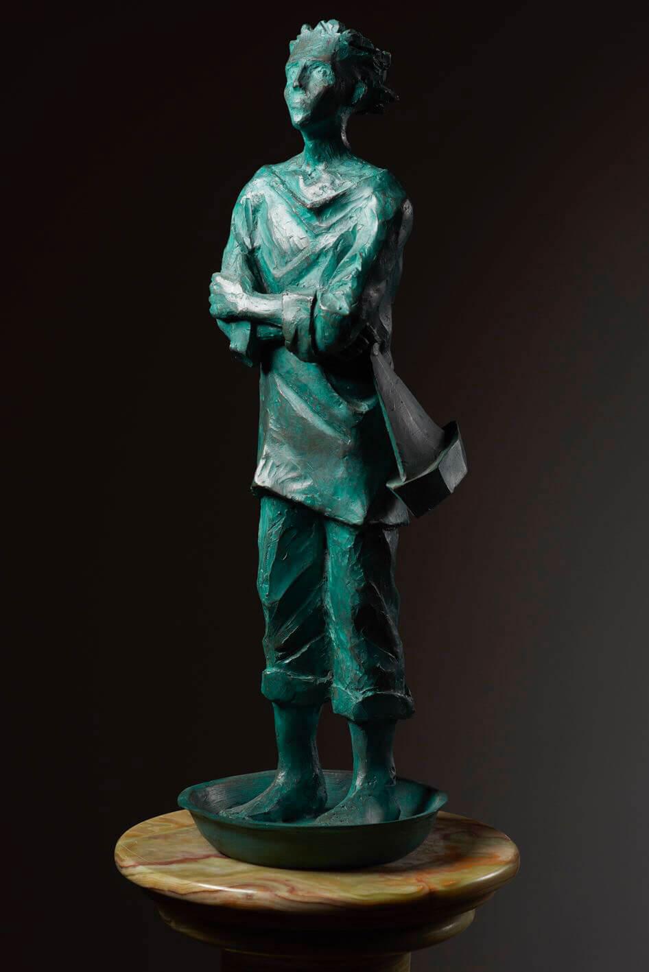 Marinaio----H43cm-14x14cm---Multiplo-in-bronzo-75-esemplari-