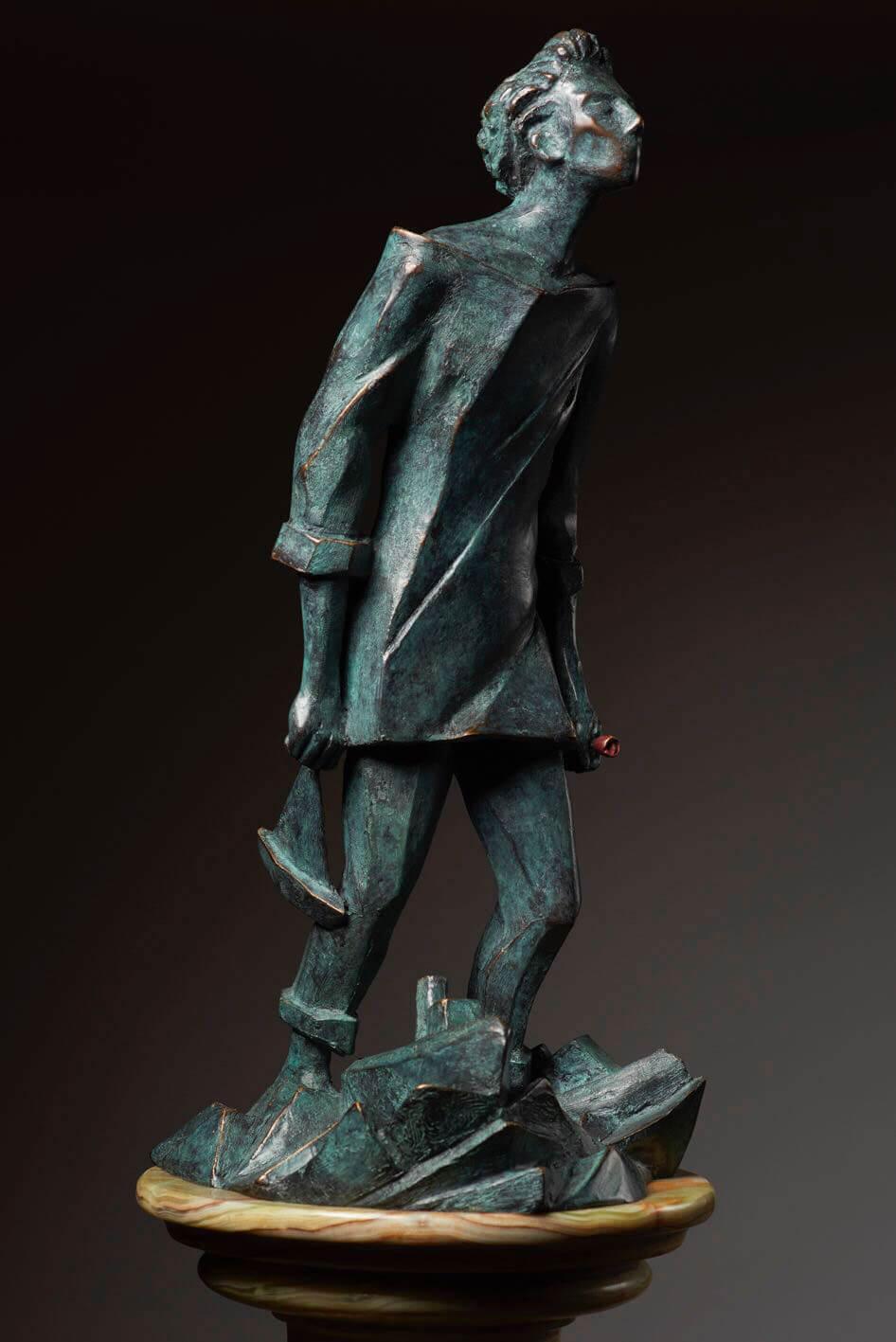 Marinaio-del-Giglio---H43cm-21x23cm----Multiplo-in-bronzo-75-esemplari