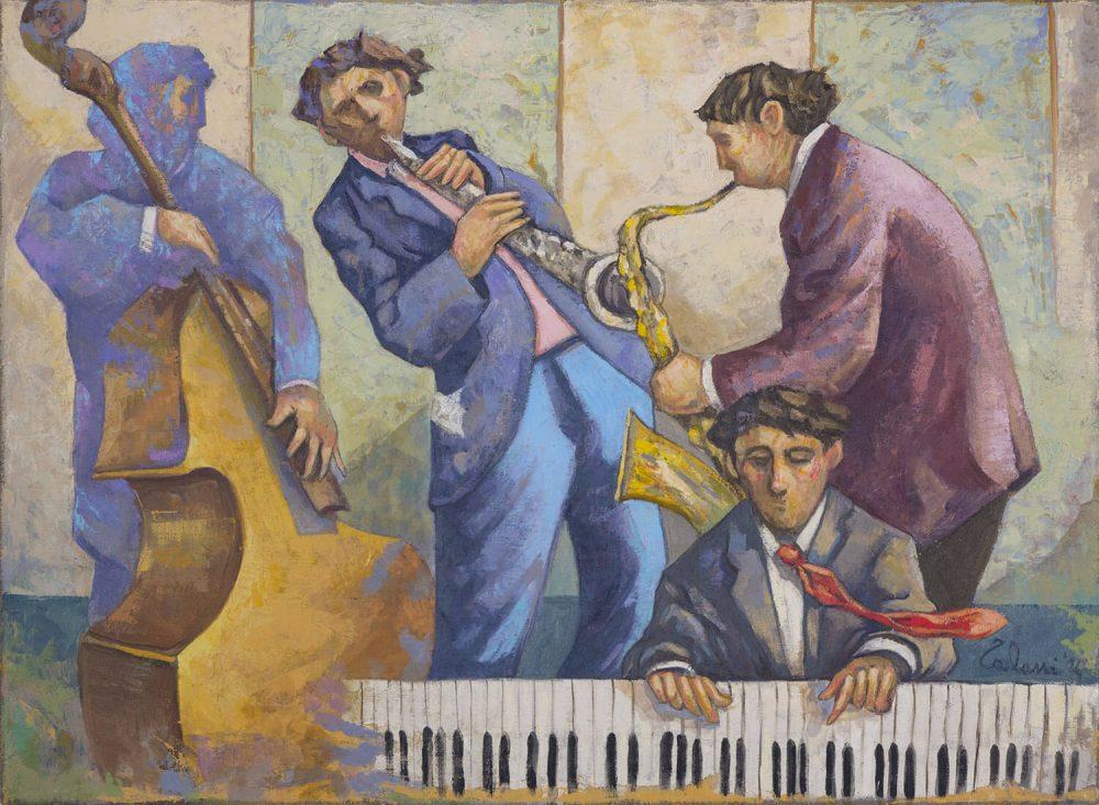 Musicisti-jazz---55x75cm---Olio-su-tela---2014