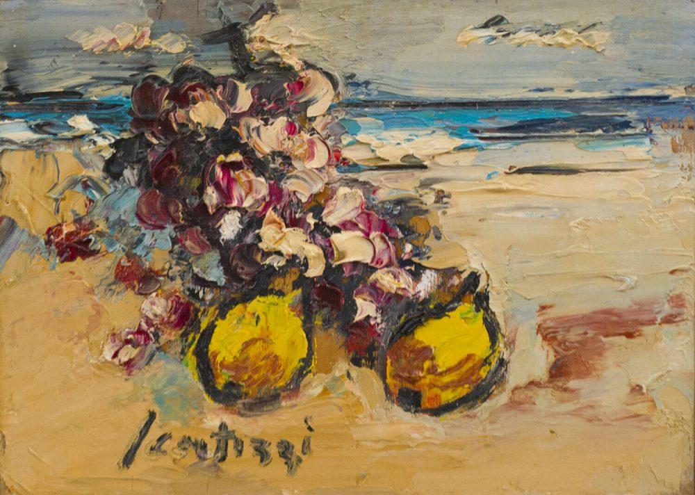 Natura-sul-mare---28,5x20,5cm---Olio-su-tavola