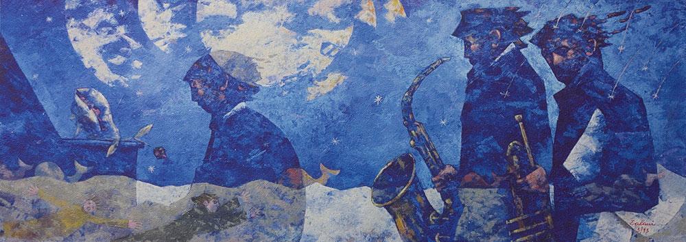 Notte-dei-musicisti---62x170cm---Litografia-su-tavola