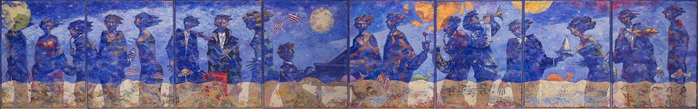 Ombre-di-una-notte-blues-320x50cm---2010---Olio-su-tela