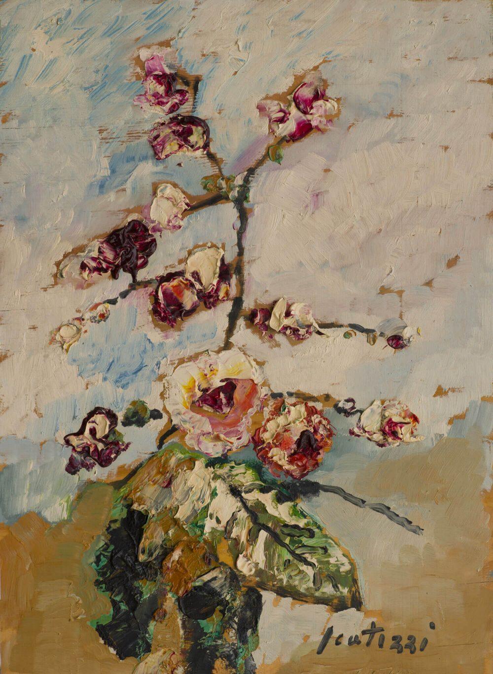 Orchidea---57x42,5cm---Olio-su-tavola