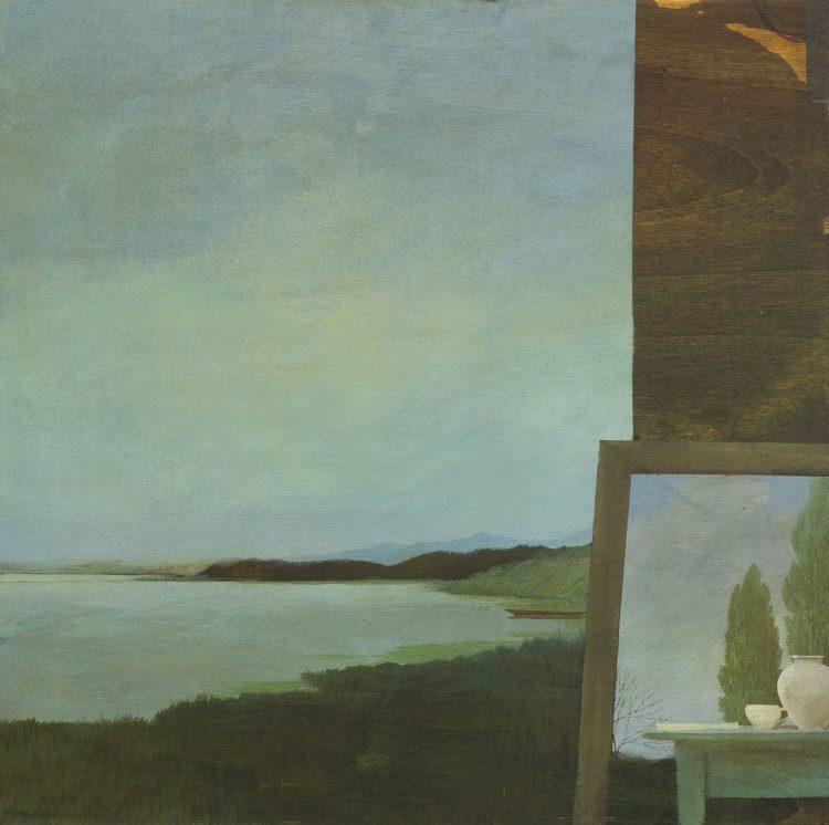 Paesaggio---50x50cm---Olio-su-tavola