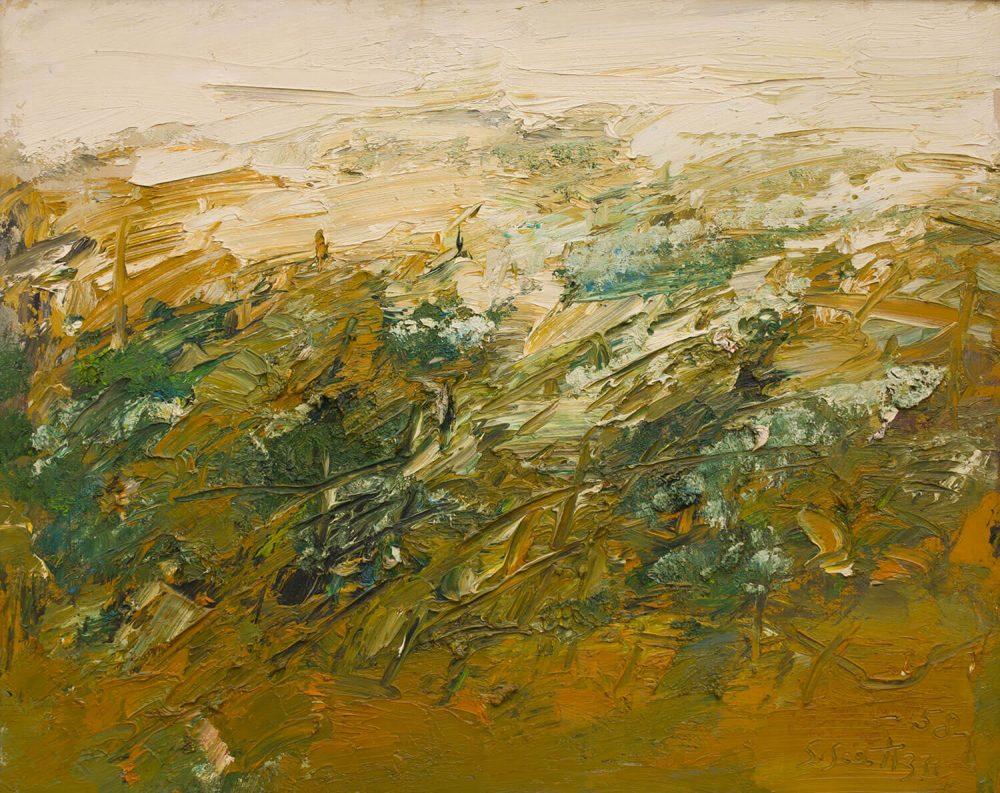 Paesaggio-a-Volterra---80x100cm---Olio-su-tela---1958