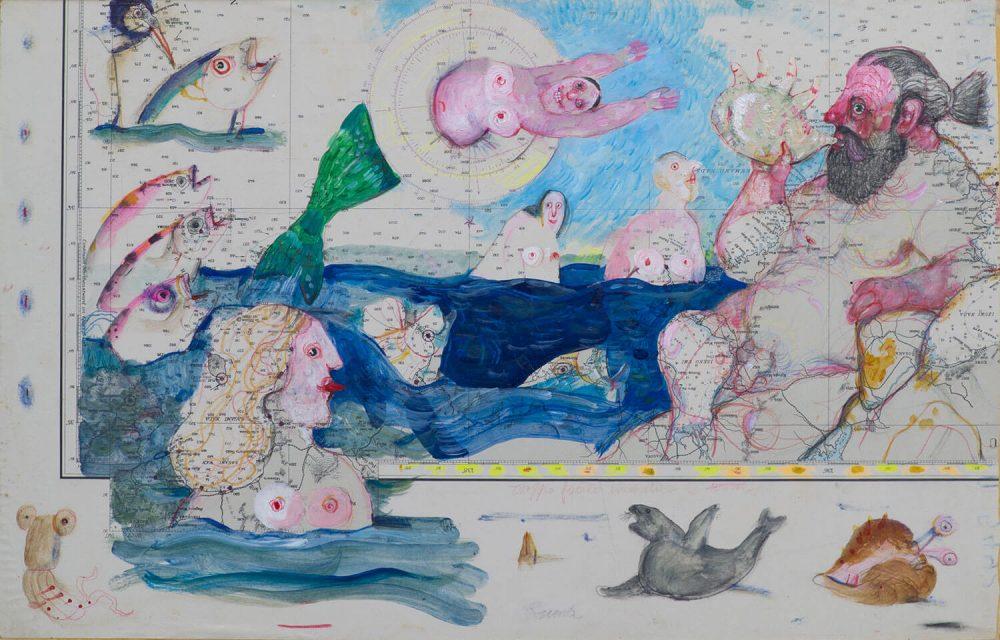 Senza-titolo-64x42cm---Carta-nautica-su-tavola