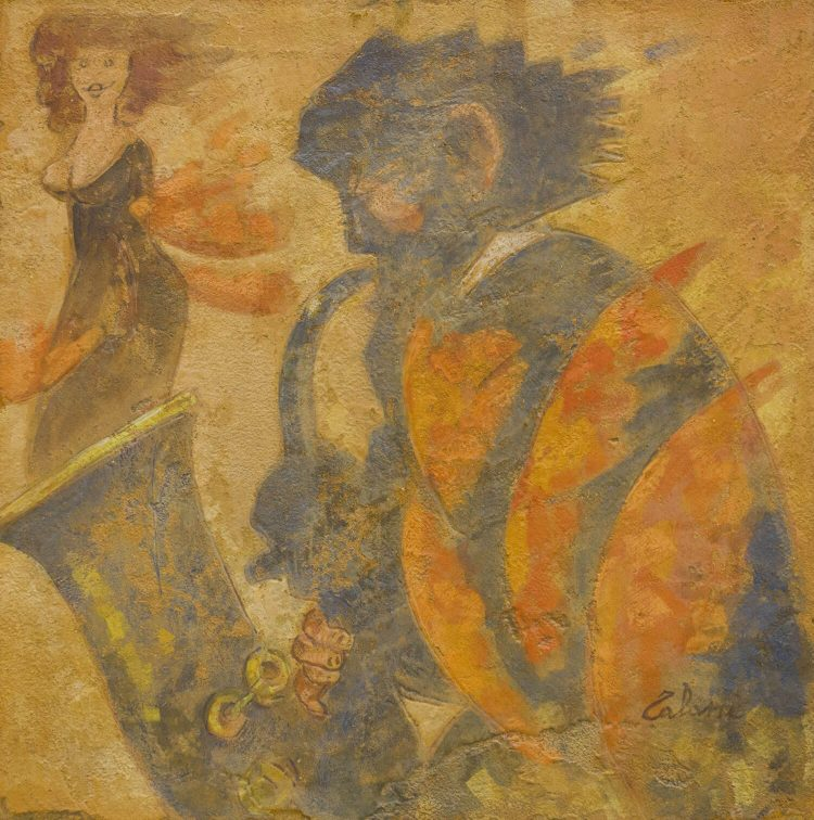 Serenata-blues---50x50cm---II¯-Strappo-di-affresco---2011