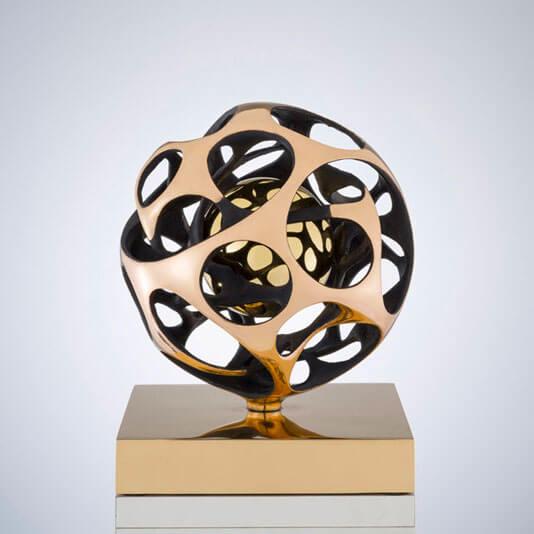 Sfera-sirio-diametro-27cm-2012-Bronzo
