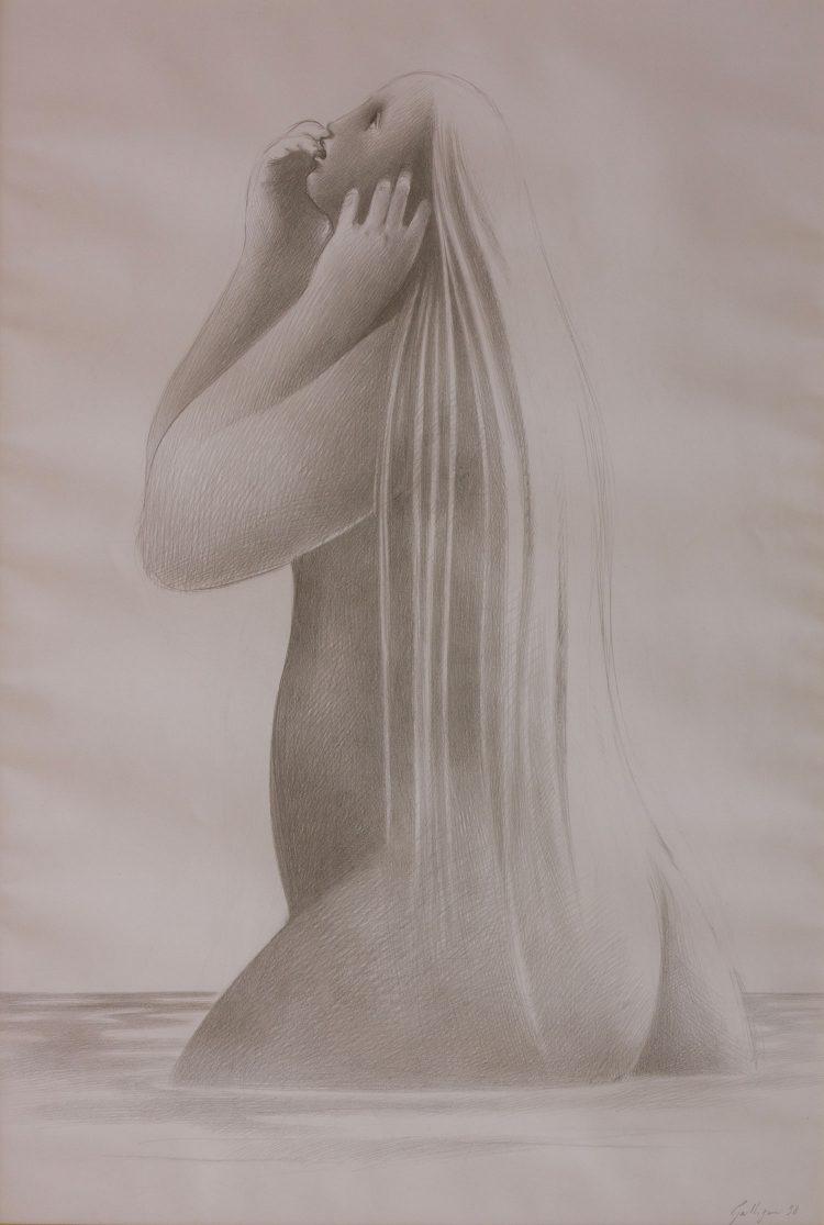 Sibilla---50x70cm---Disegno-a-matita-su-carta