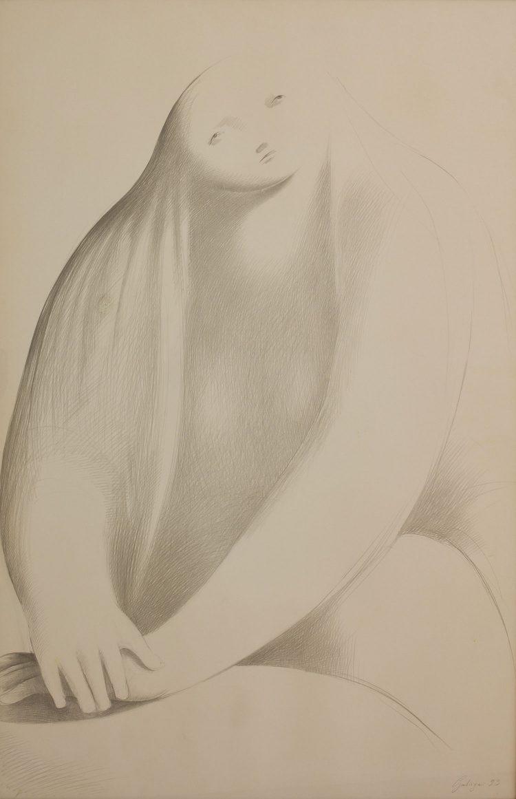 Sirena---70x100cm---Disegno-su-carta