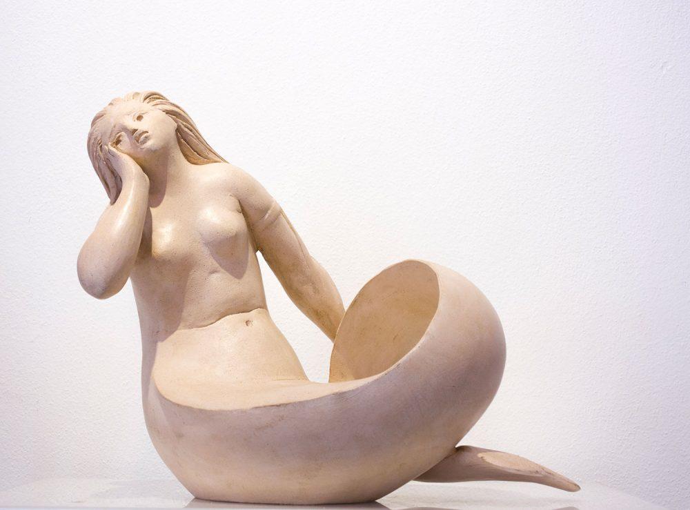 Sirena---Altezza-31cm-Lunghezza-37cm---2015---terracotta-