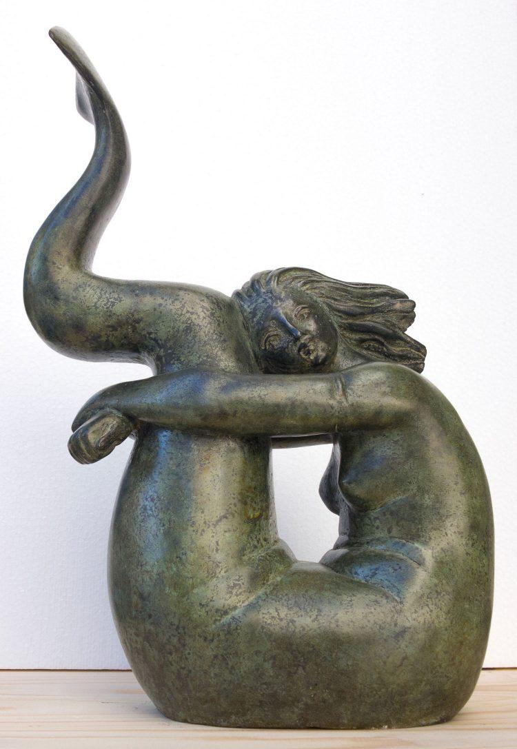 Sirena-acciambellata---30x14xH42cm---Bronzo-3-8