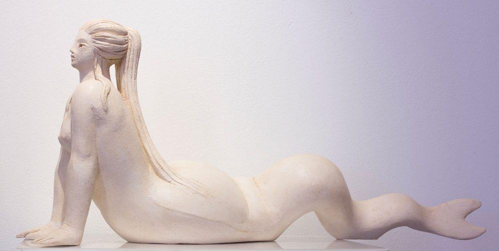 Sirena-distesa---Altezza-31cm-Lunghezza-75cm---2015---terracotta-