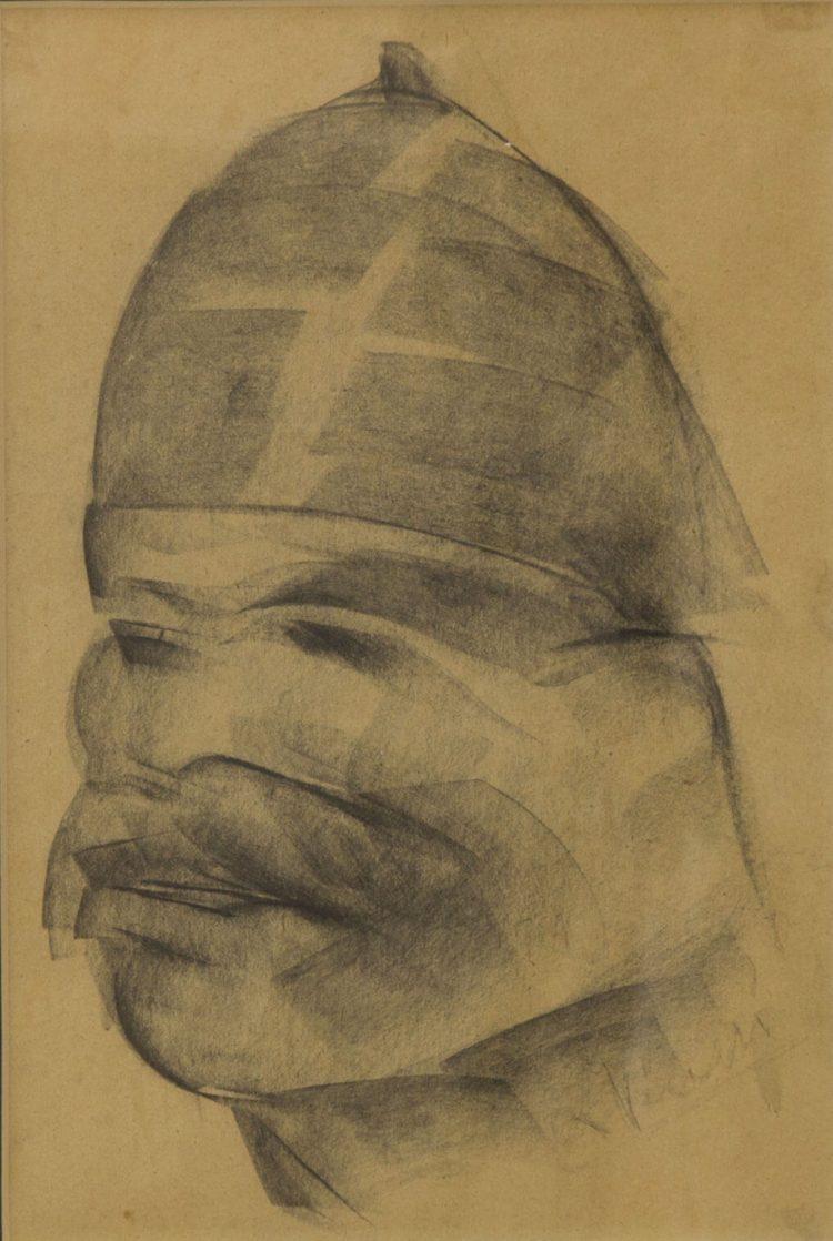 Soldato-austriaco---20x30cm---1917---Carbone-su-carta