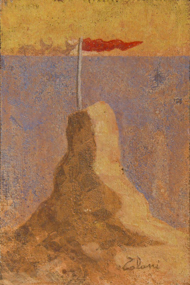 Un-castello-di-sabbia---30x20cm---Affresco---2010