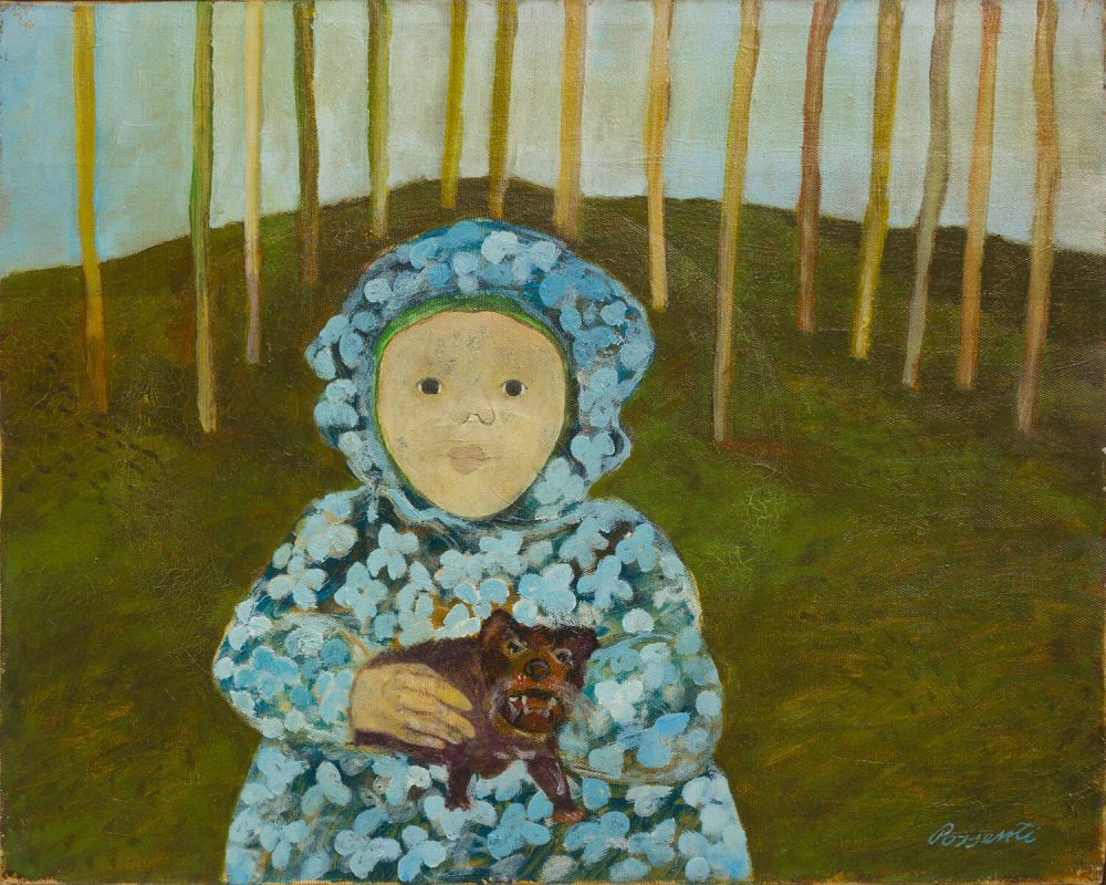 Una-bambina---40x50cm---1966---Olio-su-tela