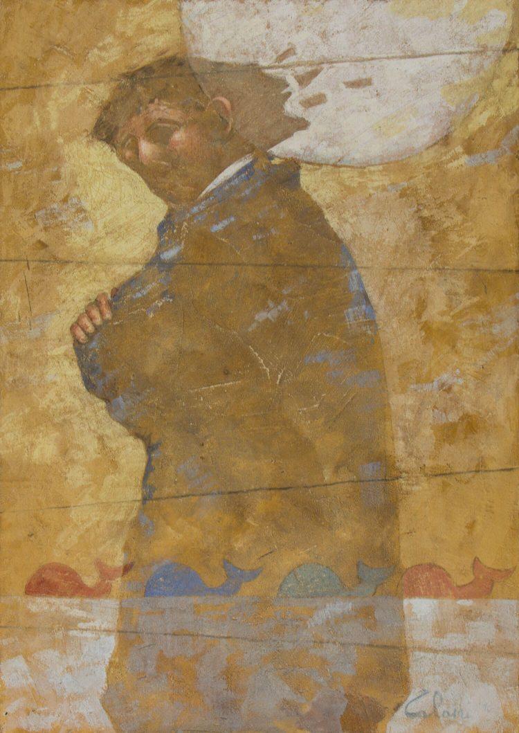 Un'ombra-che-aspetta---70x50cm---Affresco-2010