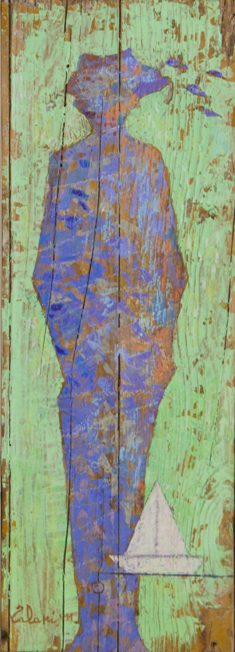 Viaggio-dell'ombra-blu---65x23---Olio-su-tavola-vecchia---2011