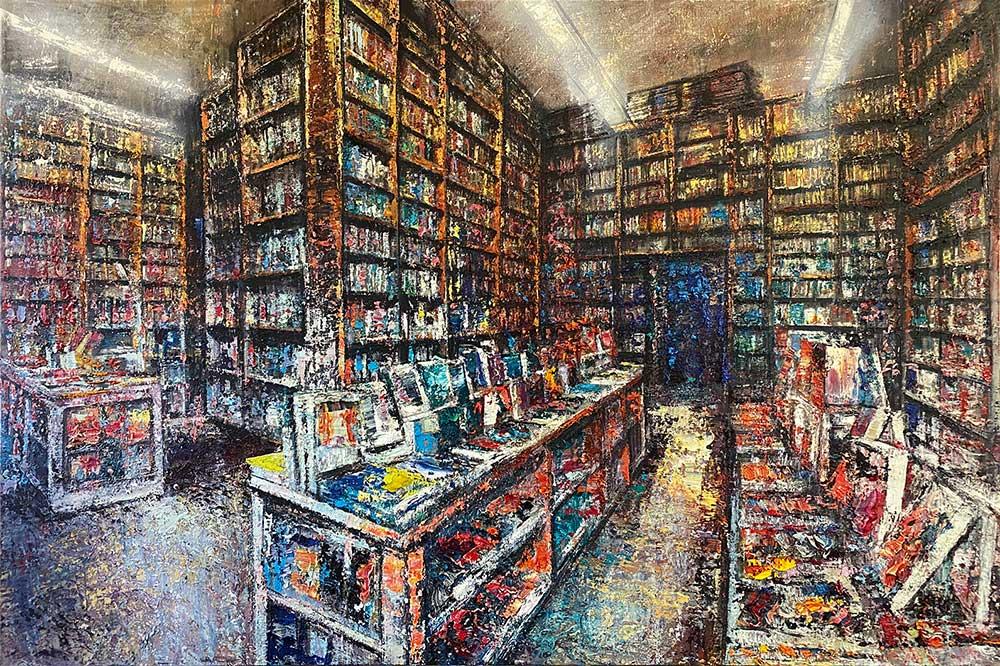 Bookstore - 100x150cm - Olio su tela 2020